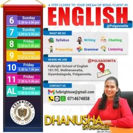 Grade 5, Grade 6-9, O/L, A/L English classes in Colombo