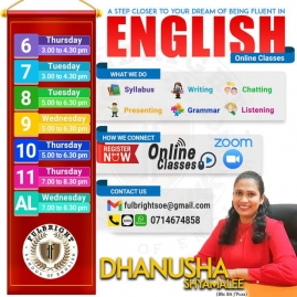 English Classes from Grade 5 to A/L & Adults