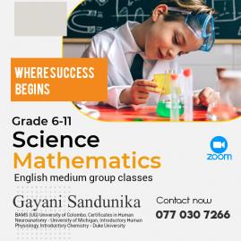 Grade 6-9, O/l Mathematics, Science Classes In Colombo